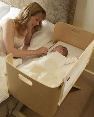 Co-sleeping moeder en baby