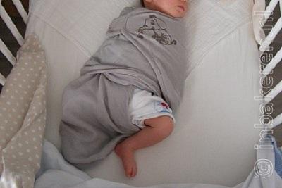 Baby inbakerslaapzak been vrij, onveilig