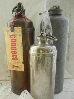 Metalen heetwater kruiken