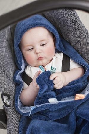 Snoozebaby wrapper indigo blue
