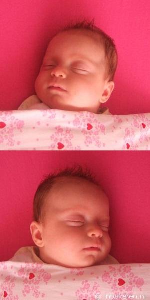 Preventie voorkeurshouding, leg je baby afwisselend met hoofd naar links en naar rechts te slapen